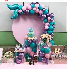Mermaid Birthday Cakes, Little Mermaid Birthday, Little Mermaid Parties, Mermaid Party Decorations, Birthday Party Decorations, Birthday Parties, Tea Parties, Mermaid Baby Showers, Girl Birthday Themes