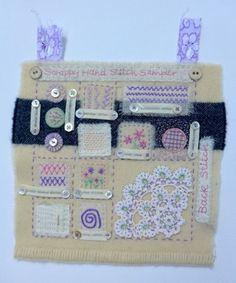 Scrappy Hand Stitch Sampler Textile Workshop at The Purple Thread Shed near Edinburgh