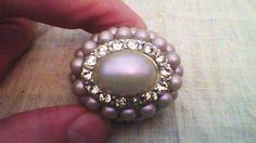 J-Lo Bubble and CZ Cocktail Ring Unique Purple Pearlescent adjustable flex band #JenniferLopez #Cocktail