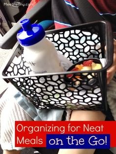 Great ideas for traveling with kids and eating on the road. Love the basket idea!