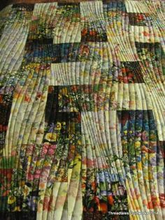 See website for more info on this quilting design. It adds movement to simple squares.
