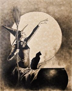 Casting by Moonlight ~ The art of Shannon Stamey - October Illustrations. See more at Winter Moon: http://www.wintermoon.co.uk/2014/09/illustration-shannon-stamey-october.html