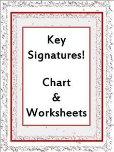 KEY SIGNATURES: ONE Key Signature Chart and FOUR worksheets with QR codes for students to check answers! $
