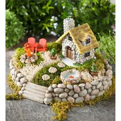 Miniature Fairy Garden Starter Kit $99.95 | Decorative Garden Accents ~ Plow and Hearth