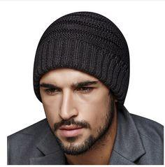 110a59d25c9 Outdoor casual knit beanie hat for men winter wear · Mens Beanie HatsKnit  ...