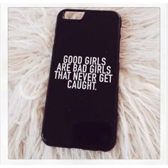 "Black ""Good Girls Are Bad Girls"" iPhone 5 5S Hipster 5SOS Phone Case ($16) ❤ liked on Polyvore featuring phone case"