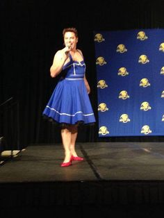 John Barrowman = #fabulous! (wearing a TARDIS dress)