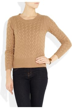 Honeycomb cable-knit sweater