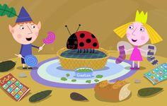 """Dibujos para colorear de Ben y Holly. Vídeos de los episodios en español y en inglés. Juegos de Ben y Holly. Aprender inglés con """"Ben and Holly's Little Kingdom"""". Conoce a los personajes de El Pequeño Reino de Ben y Holly. Esta serie de dibujos animados es de Nick Jr, y está creada por Mark Baker y Neville Astley .(Ben and Holly's little Kingdom: colouring pages, characters, games and videos)."""