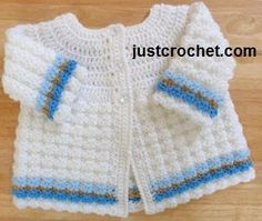 Free baby crochet pattern textued coat uk