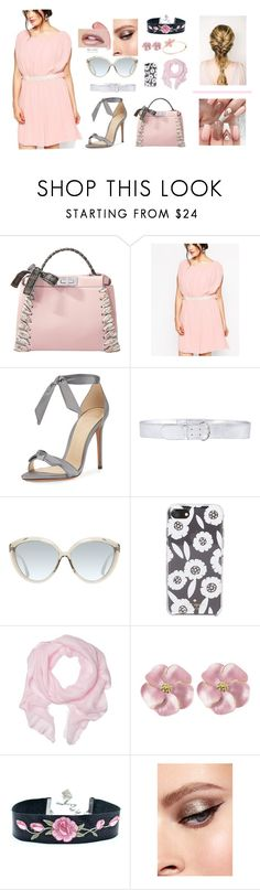 """Untitled #88"" by janersm ❤ liked on Polyvore featuring Fendi, ASOS Curve, Alexandre Birman, Prada, Linda Farrow, Kate Spade and Love Quotes Scarves"
