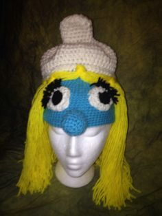 Smurfette inspired Hat by hipragz.com $25  All of my creations are available in any size!