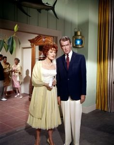 Maureen O'Hara and James Stewart in Mr. Hobbs Takes a Vacation