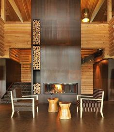5 Healthy Clever Ideas: Fireplace Vintage Apartment Therapy fireplace and mantels ideas.Wood Fireplace With Tv fireplace shelves shiplap.Wood Fireplace With Tv. Metal Fireplace, Home Fireplace, Fireplace Design, Fireplace Ideas, Fireplace Modern, Basement Fireplace, Electric Fireplace, Restaurant Fireplace, Floating Fireplace
