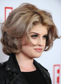 Not feeling the color at all - but I like the glamour of these layer - plus this is a great thick hair example- don't know if id go short again