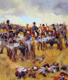 Royal Horse Artillery (British) [RHA] deployed & in action. Between 1808…