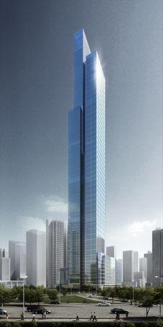 Chongqing International Financial Center, Chongqing by ECADI :: 102 floors, height 431m