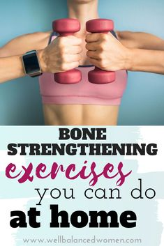All women over 40 should be doing bone strengthening activities to help ward off osteoporosis. The good news is you don't need huge weights or a gym. Effective bone health exercises can be done at home. #perimenopause #menopause #perimenopausetips #menopausetips #osteoporosis #osteopenia #womenshealthtips #fitnessforwomen #midlifewomen #midlifewomenshealth #menopausesymptoms #midlifeexercise #workoutathome #athomeexercises Weight Training For Beginners, Fitness Tips, Health Fitness, Bone Health, Women's Health, At Home Workouts For Women, Plyometric Workout, Low Impact Workout, High Intensity Interval Training