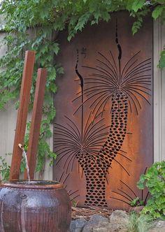 Urban Design Systems |GRASS TREE- Decorative Laser Cut Metal Screens