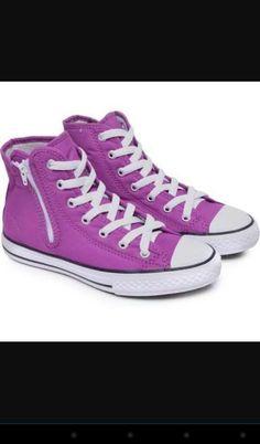 Sapatos tipo all star roxo cano alto