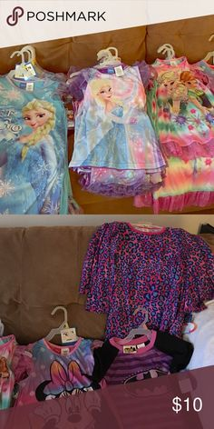 New Disney gowns Brand new Frozen, Minnie and Batgirl gowns. Disney Pajamas Nightgowns