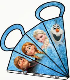Espaço Infantil – 4 Moldes de Caixinhas dos Frozen para Imprimir