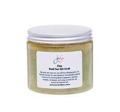 JenSan ZING Dead Sea Salt Organic Body Scrub: Rejuvenate and renew your skin with our Zing exfoliating body scrub. 16 ounces of pure heaven and a wonderful gift, we make our scrub with mineral rich Dead Sea salt and fill it with moisture rich sweet almond oil, the antioxidant properties of olive oil, and a refreshing blend of peppermint, spearmint, eucalyptus, wintergreen, and orange essential oils.