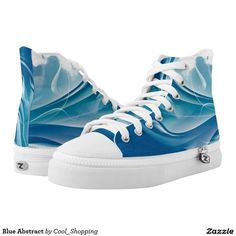 Blue Abstract Printed Shoes