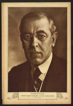 Woodrow Wilson, Twenty-Eighth President of the United States (LOC) by The Library of Congress, via Flickr