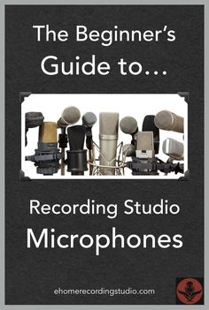 The Beginner's Guide to Recording Studio Microphones http://ehomerecordingstudio.com/types-of-microphones/