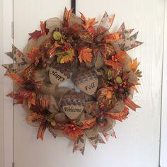 Happy fall wreath