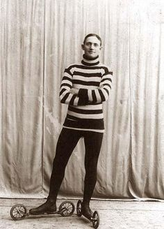 a Roller Skater, circa 1905. Interesting that the skates are inline . . . this guy was clearly ahead of his time!