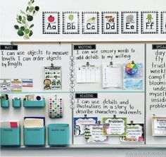 83 Best Classroom Organization Ideas - Chaylor & Mads <br> The best ideas in classroom organization This includes the best ideas to organize your bookshelves, create an epic teacher cart, plus create the perfect space just for you! First Grade Classroom, New Classroom, Classroom Design, Classroom Objectives, Kindergarten Classroom Decor, Setting Up A Classroom, Classroom Supplies, Year 3 Classroom Ideas, Ideas For Classroom Decoration