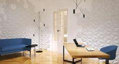 Przykladowe wnętrze zaprojektowane przy użyciu płytki Diament od Kliniki Betonu. Wnętrze autorstwa Emkwadrat Architekci