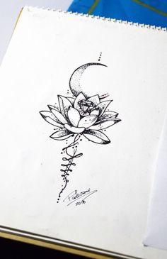 lotus Me Mermaid tattoo – Top Fashion Tattoos Lotus Tattoo Design, Moon Tattoo Designs, Cute Tattoos, Body Art Tattoos, New Tattoos, Tattoos For Guys, Tatoos, Unalome Tattoo, Tattoo Mond