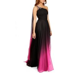 Franky- Black Prom Dress ($300) ❤ liked on Polyvore