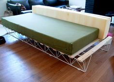 diy couch tutorial using an IKEA bed base