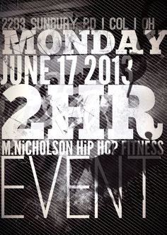 On Monday June 16, 2013 we will be having a 2 HOUR M. NICHOLSON HiP HOP FiTNESS class at 2283 Sunbury Rd. From 6:30pm – 8:30pm. Bring all your family, friends and co workers on out for a time of Fun, Fellowship and Fitness. June 16, Your Family, Hip Hop, Bring It On, Friends, Fitness, Fun, Amigos, Hiphop