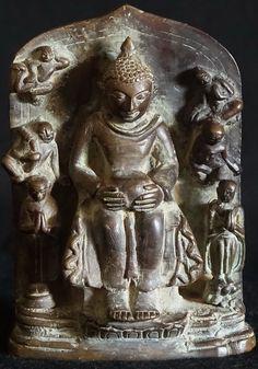 Antique Bronze Burmese Buddhist Plaque