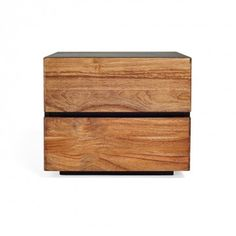 """20""""w x 17""""d x 17""""h • 2 Drawers with Blumotion for soft closing • Sustainable teak"""