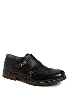 $69, Exec Double Monk Strap Slip On Black Leather 115 M by Steve Madden. Sold by Nordstrom. Click for more info: http://lookastic.com/men/shop_items/91244/redirect