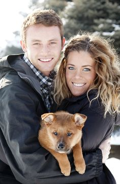 Such a cute story... the bar is set pretty high, guys! Proposed with a love note on the puppy<3