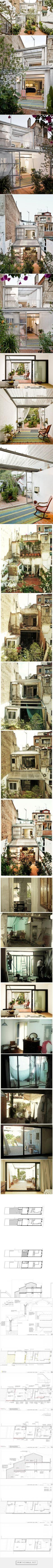 Jordi Adell > Reforma Casa Patio en Sants. Barcelona   HIC Arquitectura… Interior Ideas, Interior Design, Casa Patio, Restore, Interior Architecture, Townhouse, The Row, Restoration, Barcelona
