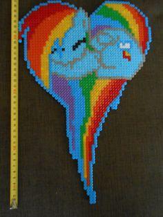 Rainbow Dash MLP hama perler by CloseEnuogh on Deviantart