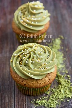 Matcha Green Tea Cupcakes   Get Your Own Boutique Organic Matcha Today: http://amzn.to/262rVnp
