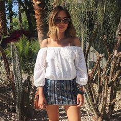 Desert vibes. Top and skirt from @revolveclothing #revolvesameday