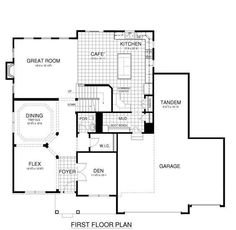 Floorplans with rear garage plan w2369jd 4 car tandem for Tandem garage house plans