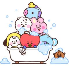 sticker by 💗 BTS. Discover all images by 💗 BTS. Find more awesome images on PicsArt. Cute Disney Wallpaper, Cute Cartoon Wallpapers, Kawaii Wallpaper, Bts Wallpaper, Bts Chibi, Bts Drawings, Kawaii Drawings, Kawaii 365, Kawaii Doodles