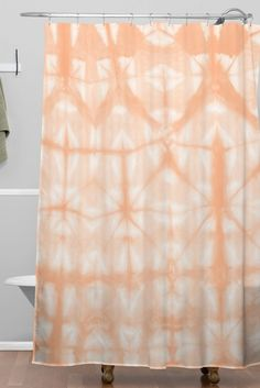 Amy Sia Tie Dye 2 Peach Shower Curtain | DENY Designs Home Accessories
