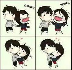 ❤Kawaii Love❤ ~me in a relationship Emo Couples, Couples Comics, Cute Anime Couples, Adorable Couples, Cute Couple Comics, Couple Cartoon, Cute Comics, Chibi Couple, Whatsapp Tricks